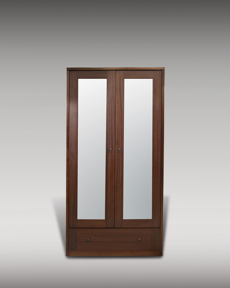 95 2-Door Mirror Armoire