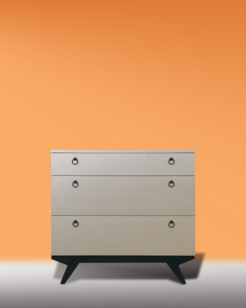 Retro Drawer OAK white wash